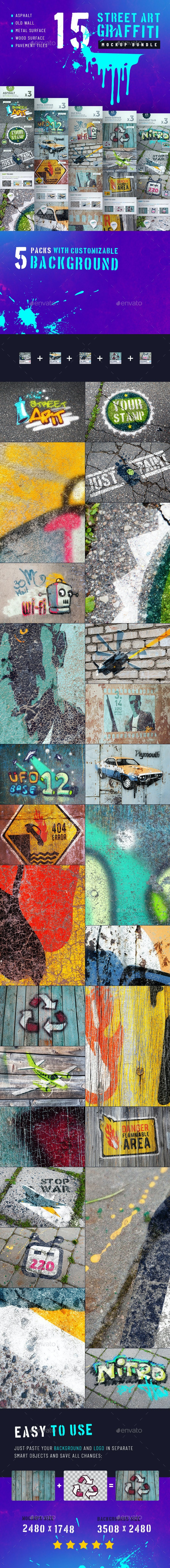 Street Art Graffiti Mockup Bundle - Miscellaneous Product Mock-Ups