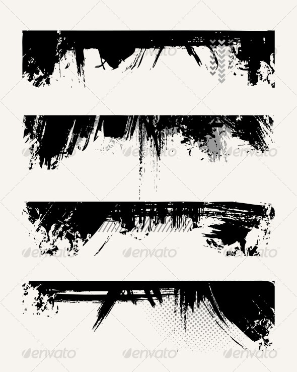 Set of grunge edges - Decorative Symbols Decorative