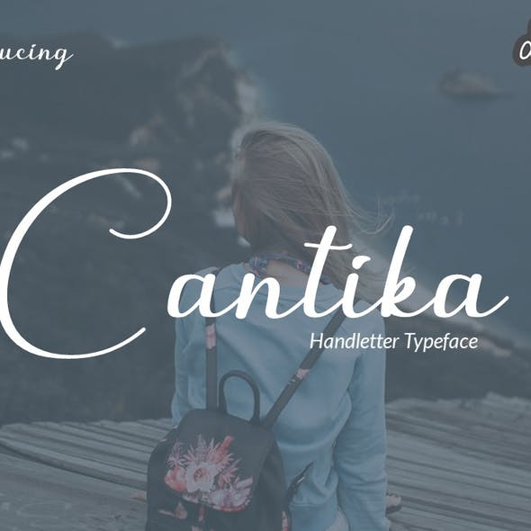 Cantika - Rounded Handletter Font