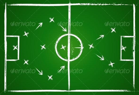 Football teamwork strategy - Abstract Conceptual