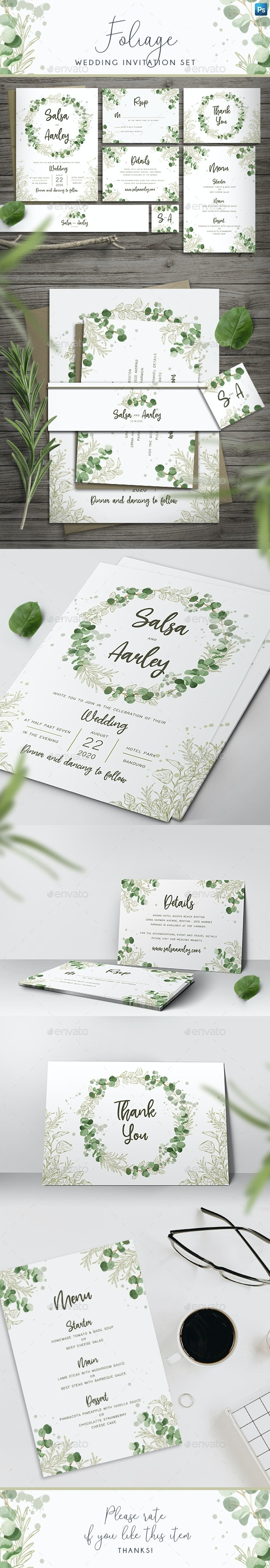 Foliage Wedding Invitation - Weddings Cards & Invites