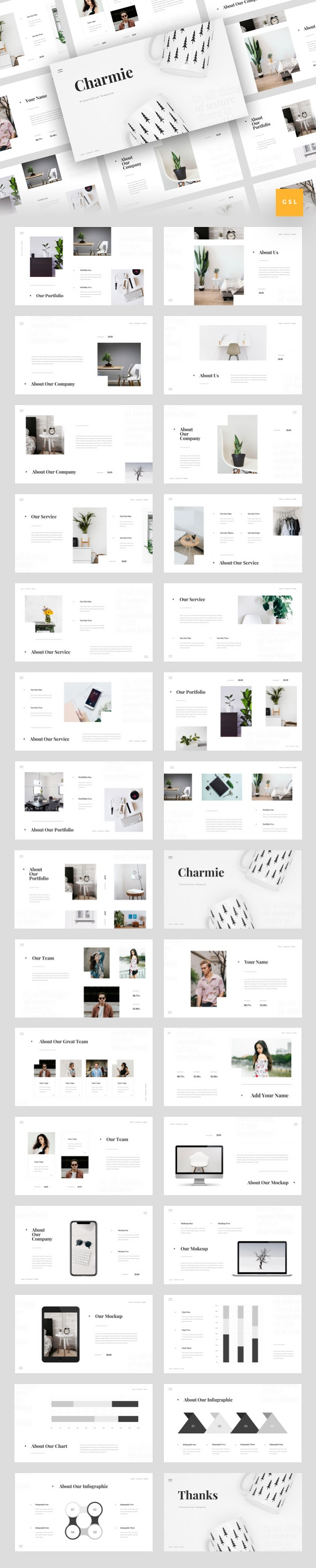 Charmie - Creative Google Slides Template - Creative Keynote Templates