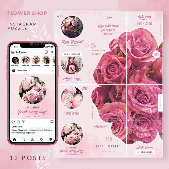 Flower Shop - Instagram Puzzle
