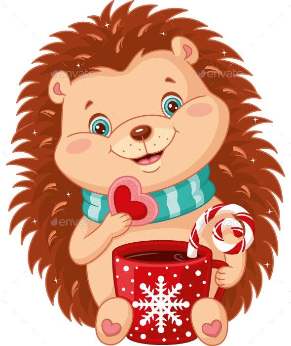 Hedgehog and Christmas Tea Party - Christmas Seasons/Holidays