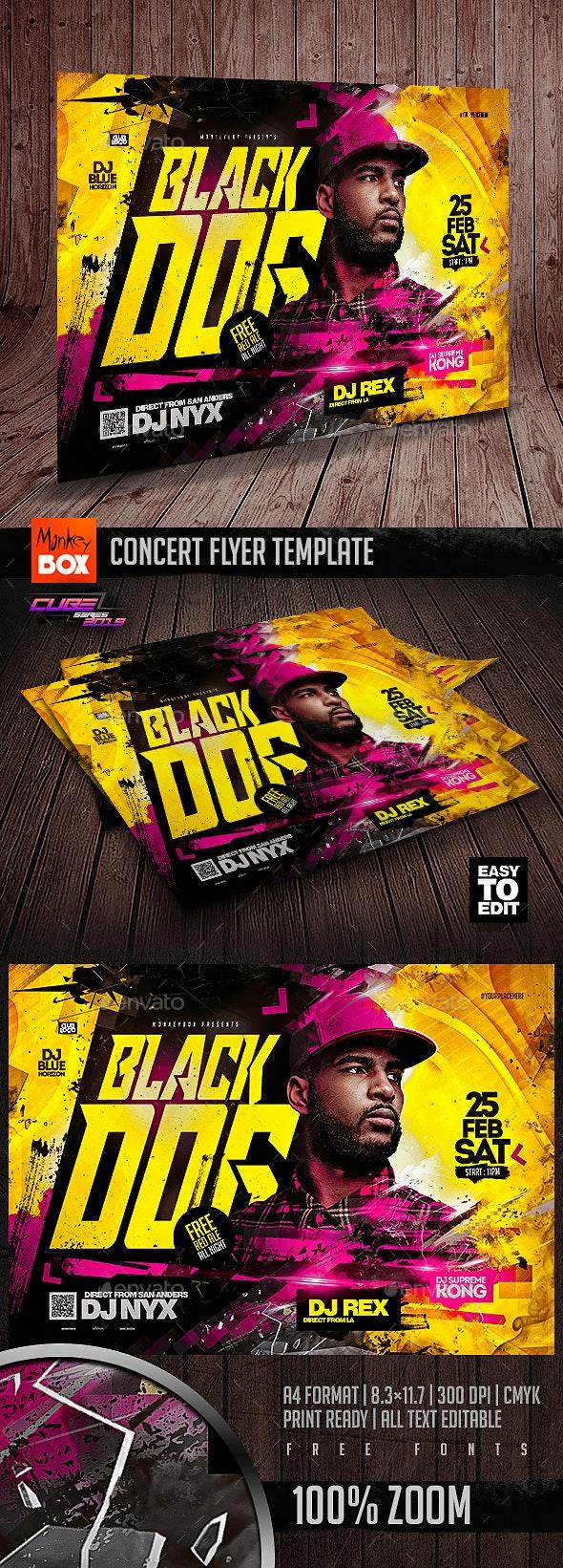 Concert Flyer Template - Concerts Events