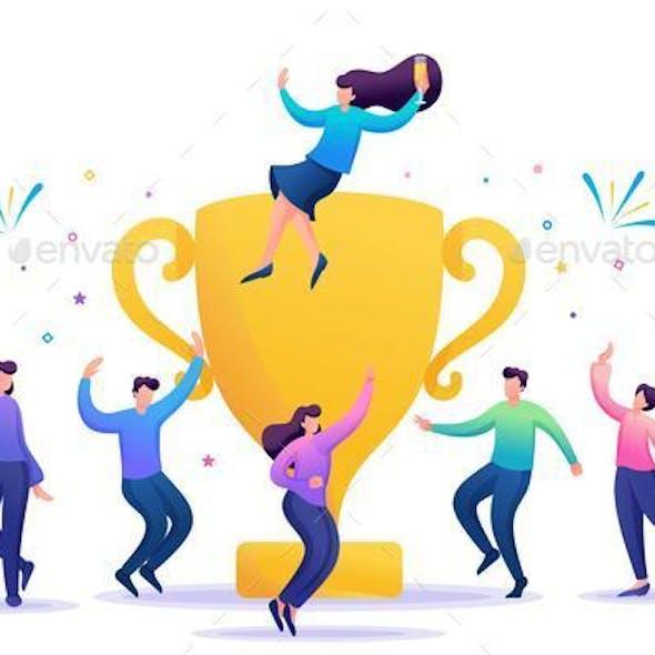 Business Team Celebrates Success