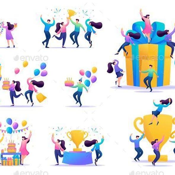 Set of Concepts of Celebrating