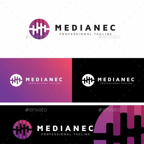 Media Circle Wave Logo