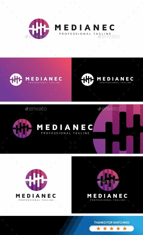 Media Circle Wave Logo - Symbols Logo Templates