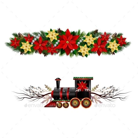 Vector Christmas Fir Decoration Isolated - Christmas Seasons/Holidays