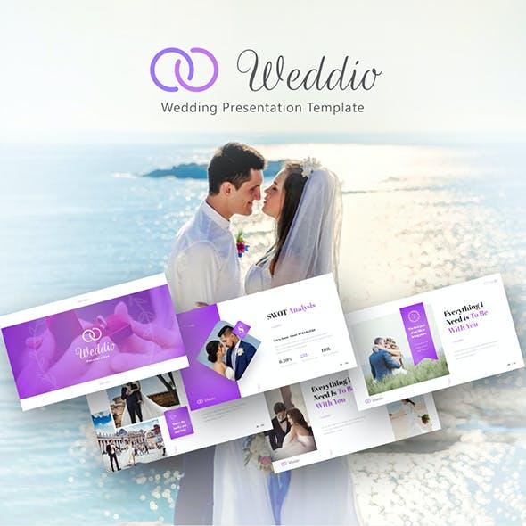 Weddio Creative Animated Wedding Event PowerPoint Presentation Template