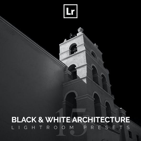 Black & White Architecture Lightroom Presets