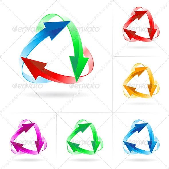 Set of arrow circles - Decorative Vectors
