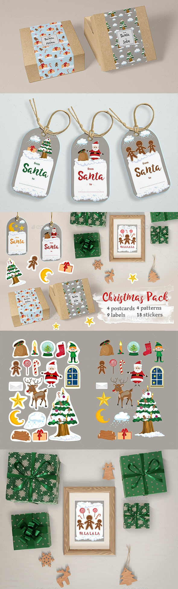 Christmas Labels and Stickers - Christmas Seasons/Holidays