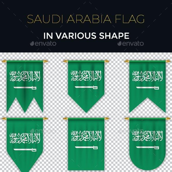 Saudi Arabia Flag in Various Shape