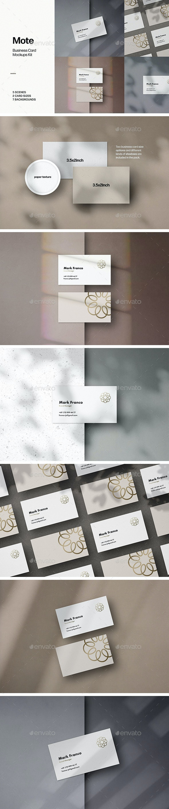 Mote Business Card Mockups - Business Cards Print