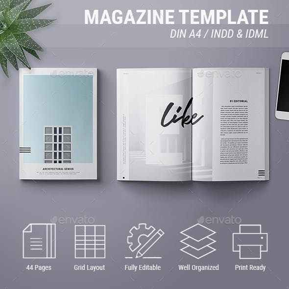 Magazine Template | Genius