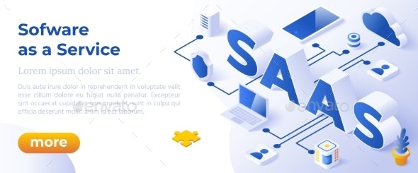 SAAS - Isometric Vector Illustration - Technology Conceptual