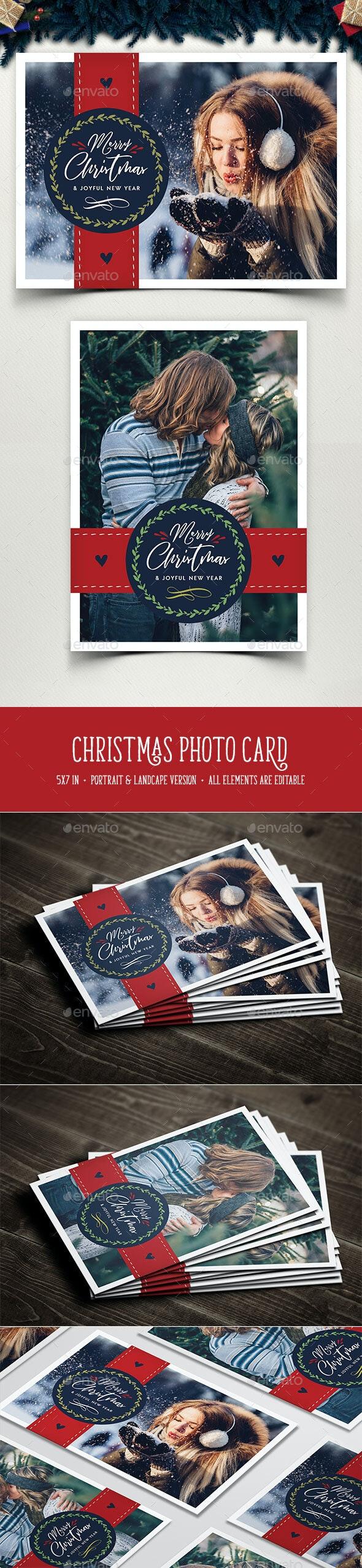 Christmas Photo Card - Christmas Greeting Cards