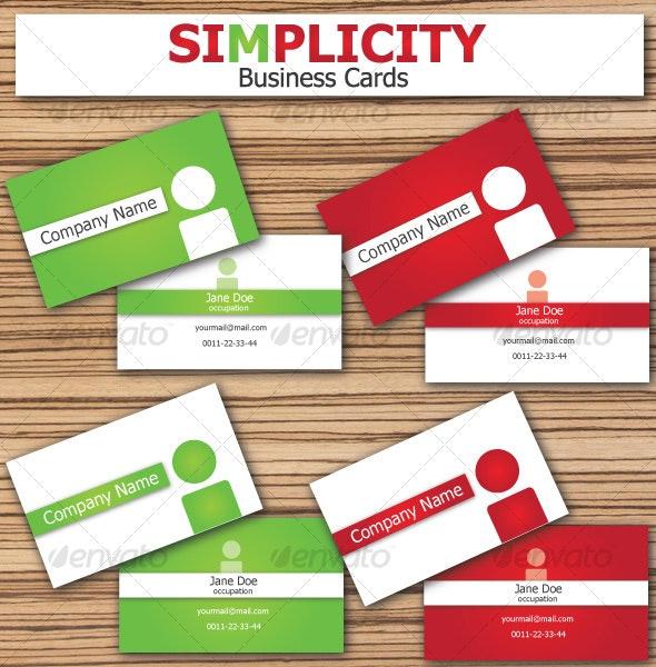 SIMPLICITY Business Cards - Corporate Business Cards