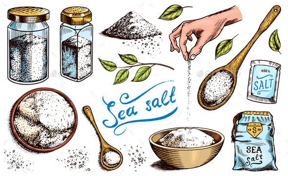 Sea Salt Set - Food Objects