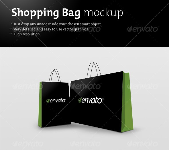 Shopping bag mockup - Miscellaneous Packaging