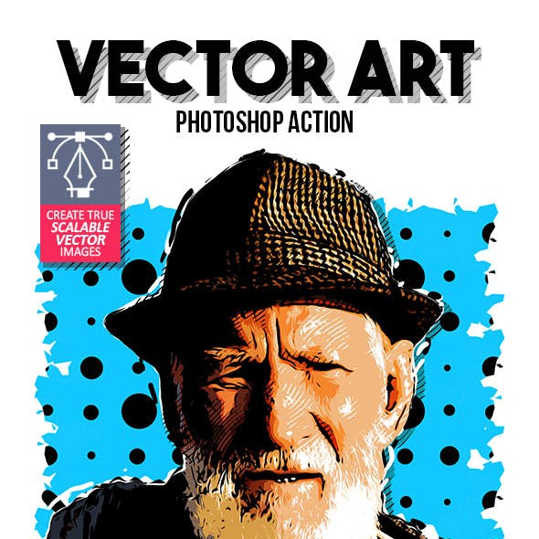 True Vector Art Photoshop Action