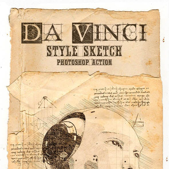 Da Vinci Style Sketch Photoshop Action