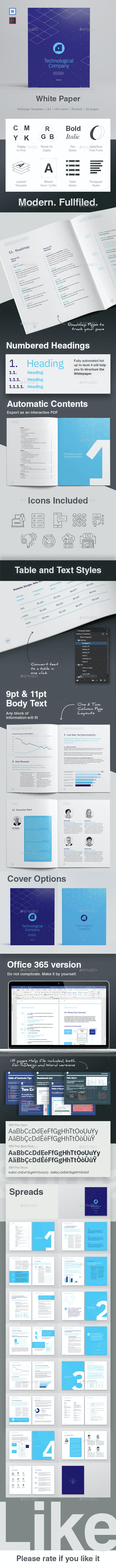 White Paper 32 Pages - Informational Brochures