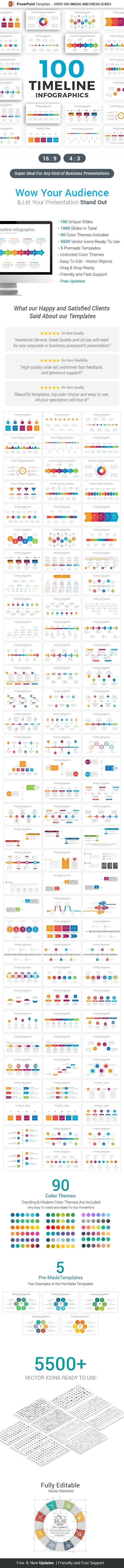 Timeline Infographics Powerpoint Template Diagrams By Ciloart Graphicriver