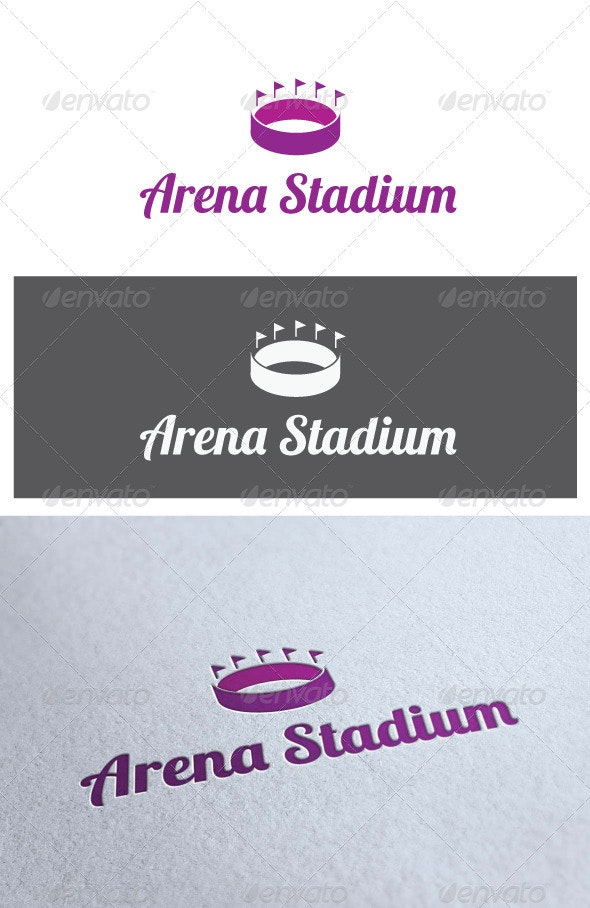Logo Arena Stadium - Buildings Logo Templates