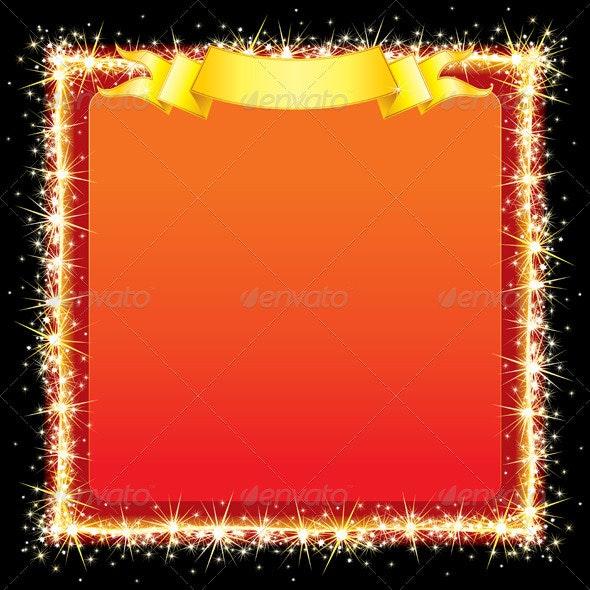Sparkling Bright Frame - Backgrounds Decorative