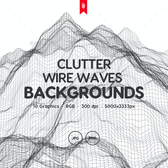 Clutter - Wire Waves Background Set