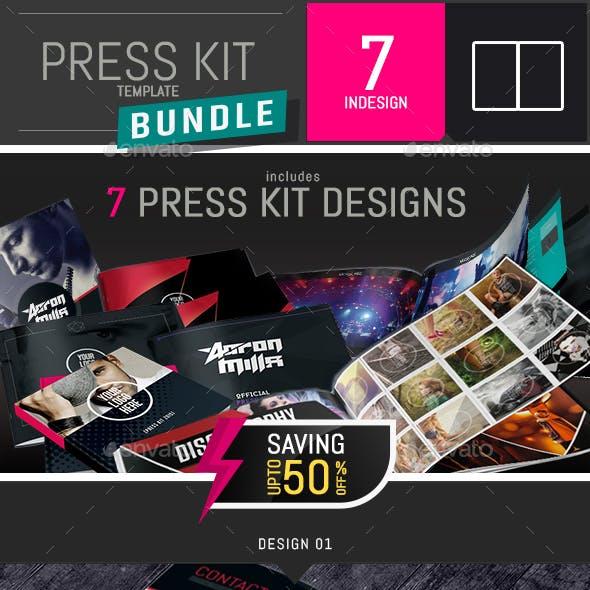 7 Press Kit Templates Bundle for Djs and Musicians