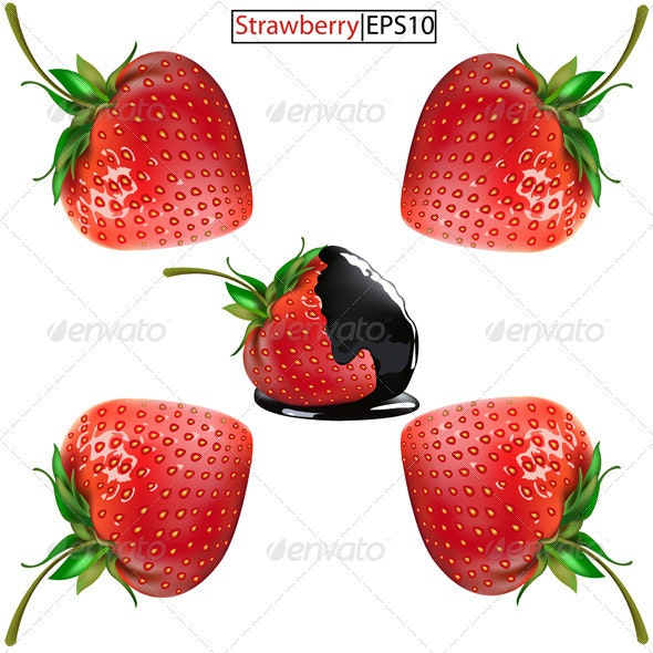 Strawberries - Food Objects