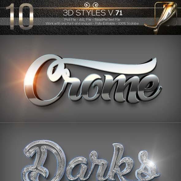10 3D Text Styles D_71