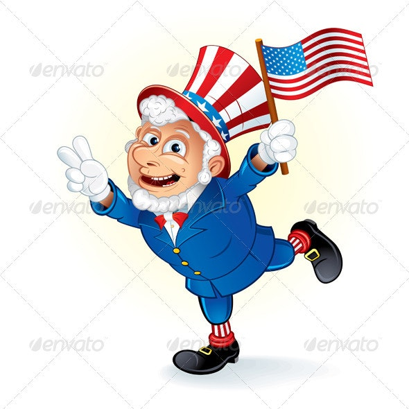 Smiling Uncle Sam - People Characters
