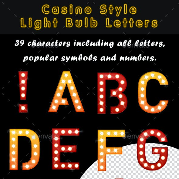 Casino Style Light Bulb Letters