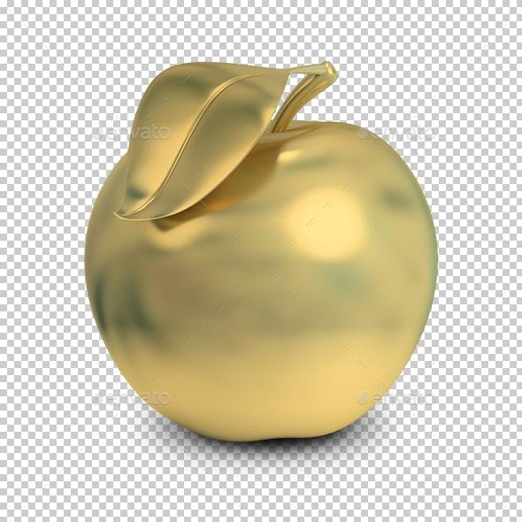 Golden Apple - Objects 3D Renders