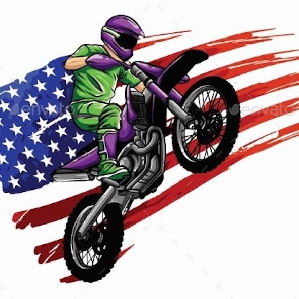 Vector Illustration Sport Superbike Motorcycle