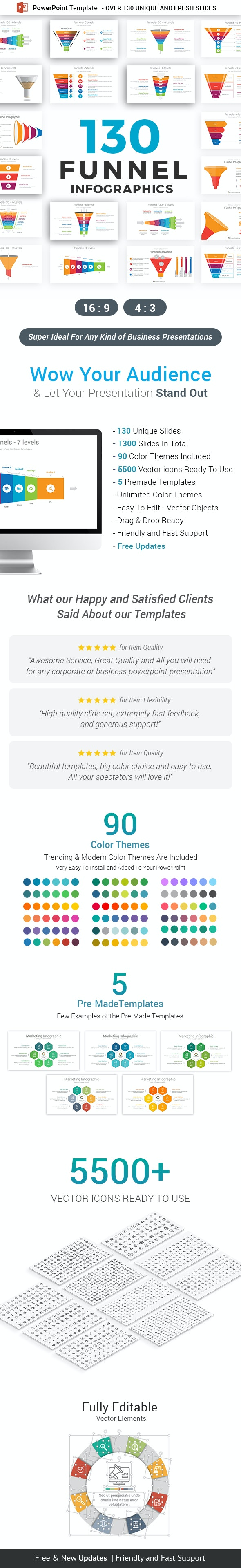 Funnel Infographics PowerPoint Template diagrams - Business PowerPoint Templates
