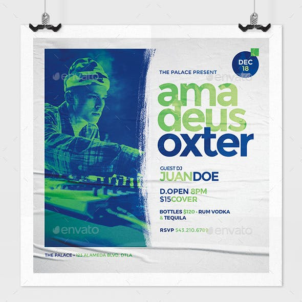 Dj Concert Promotional Flyer