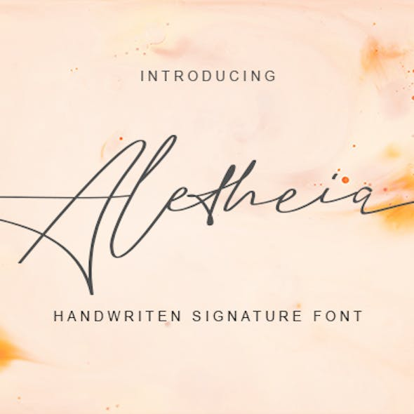 Signature Font Fonts From Graphicriver