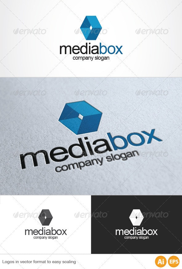 Media Box Logo - Abstract Logo Templates