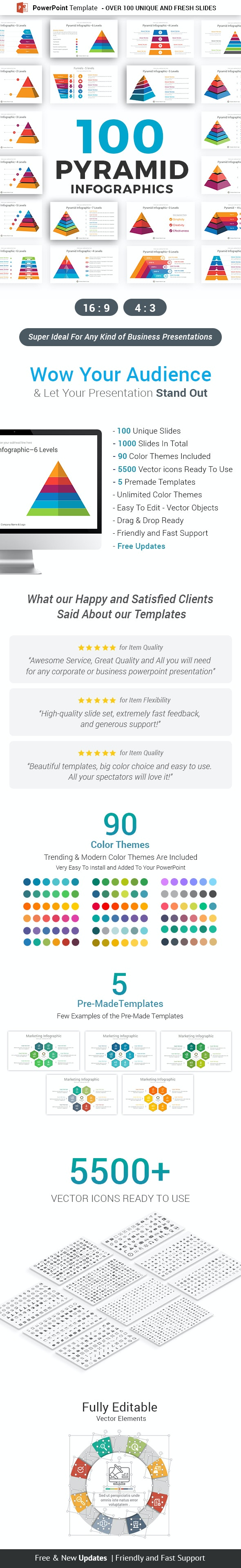 Pyramid Infographics PowerPoint Template diagrams - Business PowerPoint Templates