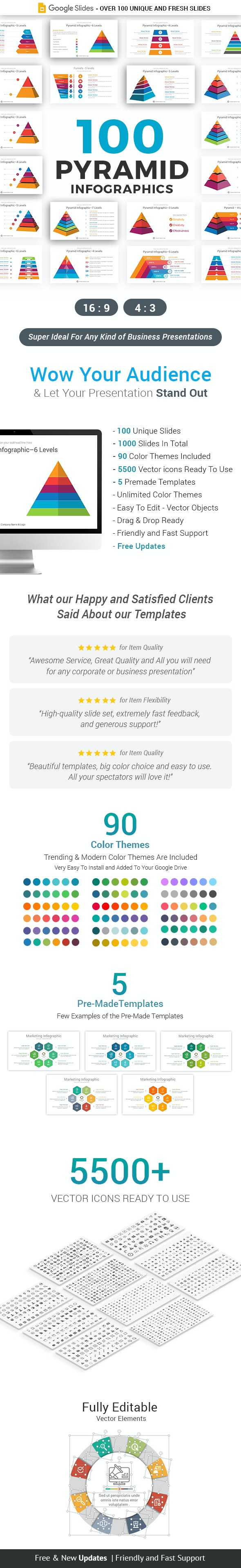 Pyramid Infographics Google Slides Template Diagrams - Google Slides Presentation Templates