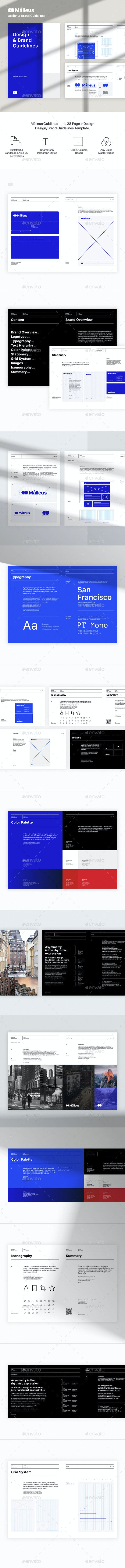 Malleus – Brand Guidelines Template - Corporate Brochures