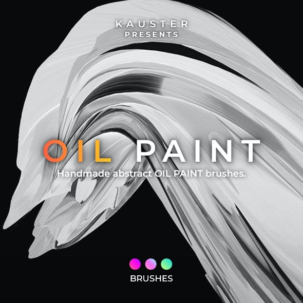 Oil Paint Swooshes Brushes