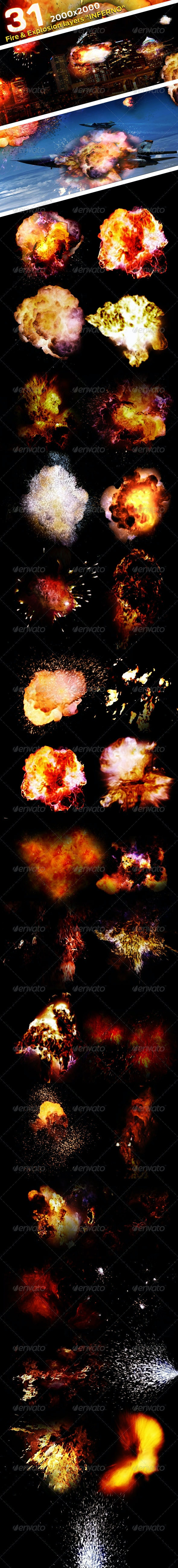 """31 Fire & Explosion Frames """"Inferno"""" - Miscellaneous Graphics"""