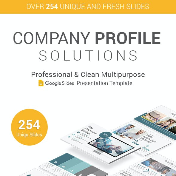 Stunning Company Profile Google Slides Template